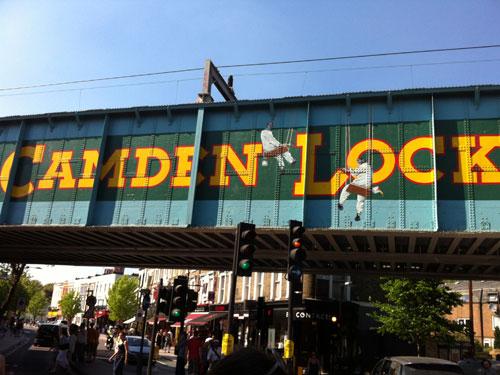 Eisenbahnbrücke am Camden Lock Market. (Foto: spe)