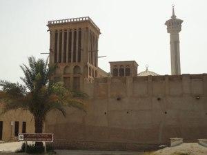 Windtürme und Minarett in Bur Dubai. (Foto: spe)