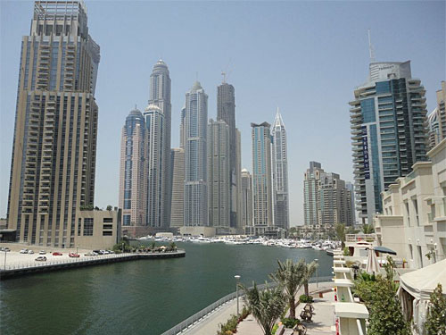 Dubai Marina. (Foto: Sören Peters)