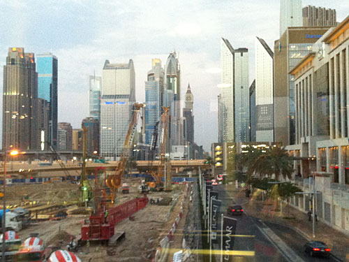 Eine Ende des Baubooms in Dubai Downtown ist noch nicht in Sicht. (Foto: Sören Peters)