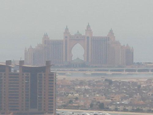 Das Hotel Atlantis auf der künstlich angelegten Palm Jumeirah. (Foto: Sören Peters)