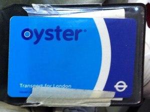 Oyster Card in meiner inzwischen etwas abgenutzten Hülle. (Foto: Sören Peters)
