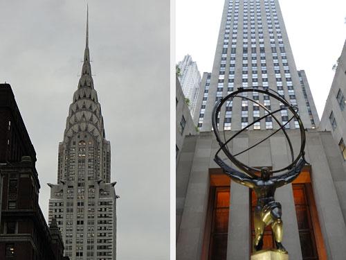 Nicht weit davon entfernt befinden sich das Chrysler Building (l.) und das Rockefeller Center. (Foto: Sören Peters)