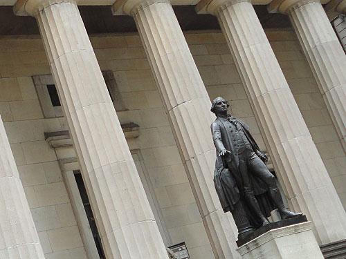 In unmittelbarer Nähe wurde George Washington 1789 zum ersten Präsidenten der USA ernannt. (Foto: Sören Peters)