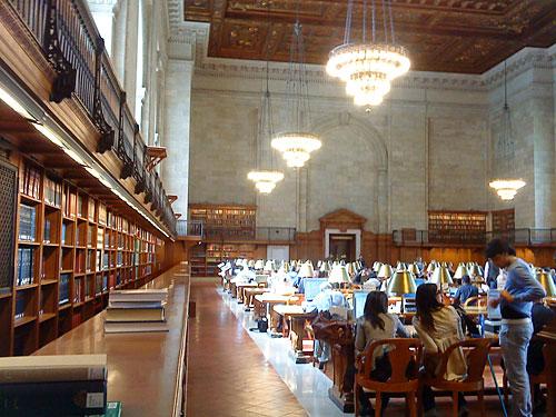 Wir machen einen Abstecher in die zentrale Bibliothek, zwischen 5th Avenue und Bryant Park gelegen. (Foto: Sören Peters)