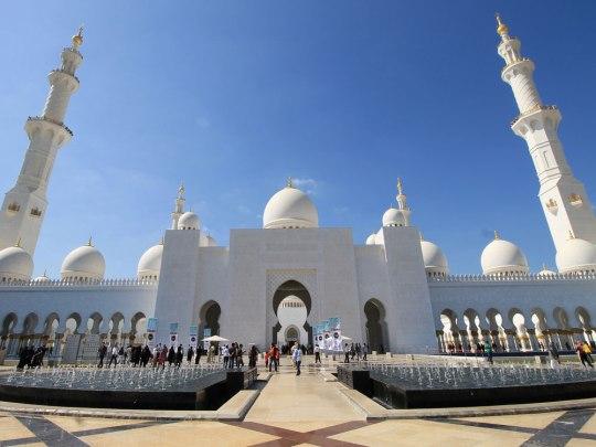 Sheikh-Zayed-Moschee in Abu Dhabi. (Foto: Sören Peters)