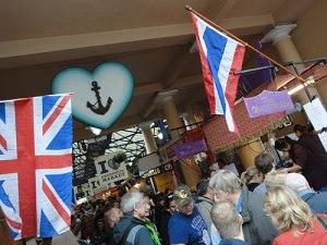 Essensstände auf dem Greenwich Market. (Foto: Sören Peters)