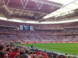 Blick ins Wembley-Stadion bei einem Länderspiel der englischen Nationalmannschaft. (Foto: spe)