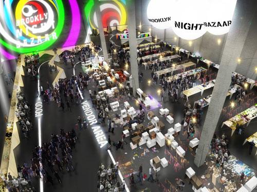 Der Brooklyn Night Bazaar: Eine Mischung aus Essen, Live-Musik und Shopping lockt die Massen nach Williamsburg. (Foto: PR/JDS Architects)