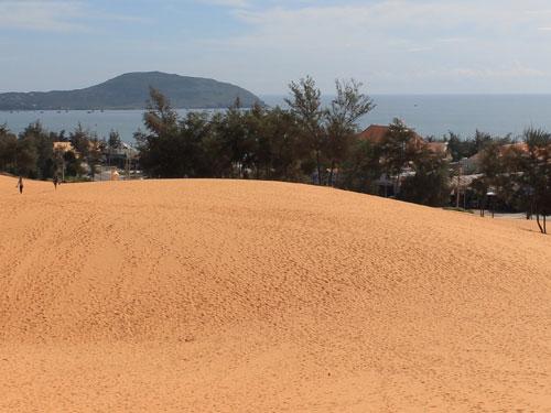 Blick von den Sanddünen aufs Meer. (Foto: spe)