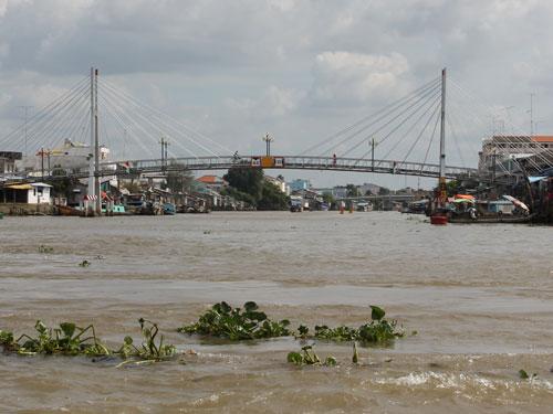 Hängebrücke in Vinh Long (Foto: spe)