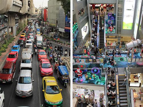 ...sofern man die ständigen Superstaus noch als Verkehr bezeichnen kann...recht der Blick ins MBK. (Fotos: Sören Peters)