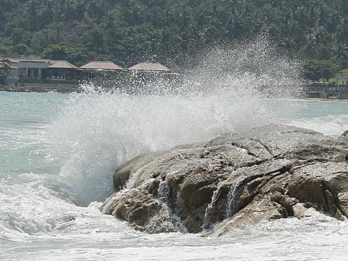 Und wenn das Wetter mal nicht mitspielt und das Meer aufgewühlt ist... (Foto: spe)