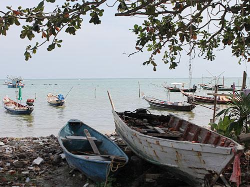 Südlich von Lamai befindet sich das muslimische Fischerdorf. (Foto: spe)