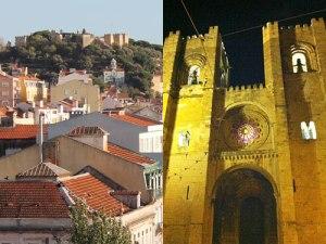 Das Castelo de São Jorge und die romantische Westfassade der Catedral Sé Patriarcal aus dem Jahr 1380. (Foto: spe)
