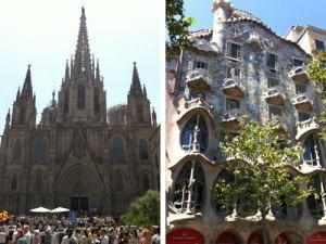 Gleich zu Beginn steht die Kathedrale La Seu auf dem Plan. Die Route endet mit dem Erbe Gaudís, hier die Casa Batllo. (Foto: spe)