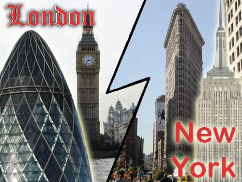 London oder New York - welche Stadt ist besser? (Montage: spe)