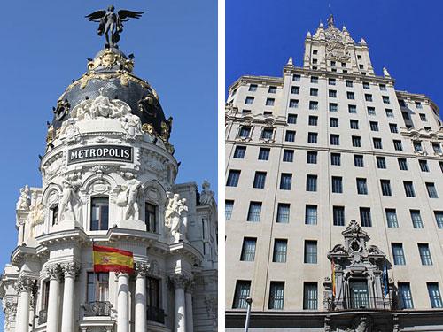 Vorbei geht es am Metropolis-Gebäude und am Edificio Telefónica... (Foto: spe)