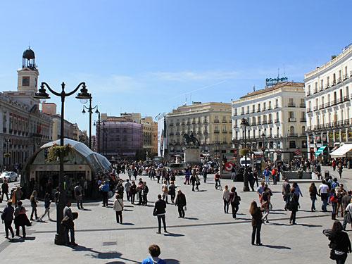 ...um fünf Minuten später wieder die Puerta del Sol zu erreichen. (Foto: spe)
