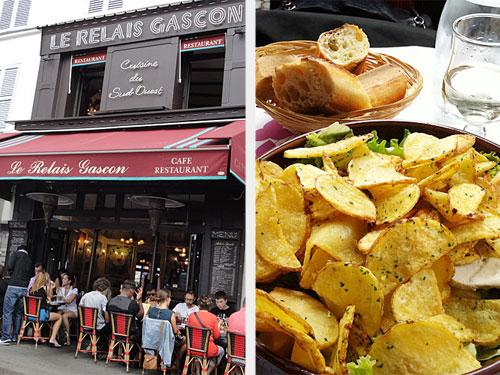 "Den leckersten Salat gibt es im ""Le Relais Gascon"" an der Rue des Abbesses. (Foto: spe)"