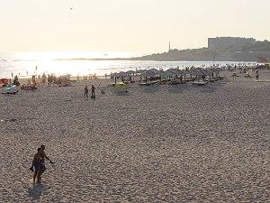 Tagesausklang am Strand vom Carcavelos. (Foto: spe)