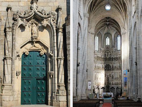 Eingangstür der Kathedrale und Innenansicht. (Foto: spe)