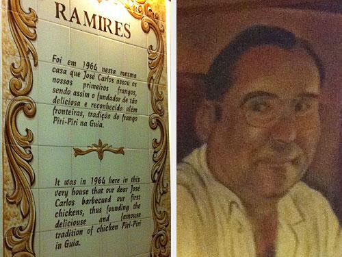 Links: Die Geschichte von Ramires. Rechts: Ramires. (Fotos: Sören Peters)