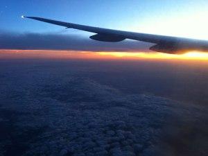 Sonnenaufgang über Südostasien. (Foto: Sören Peters)