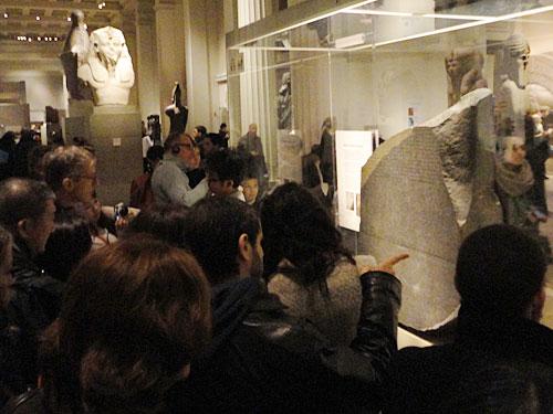 Besonders beliebt: Der Rosetta Stone, mit dessen Hilfe es gelang, die Hieroglyphen zu entschlüsseln. (Foto: Sören Peters)