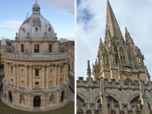 "Links: Radcliffe Camera. Rechts: St. Mary the Virgin. (Foto: Sören Peters / <a href=""http://www.flickr.com/photos/exnovo/26296207/"">Carmen Alonso Suarez</a> via <a href=""http://photopin.com"">photopin</a> <a href=""http://creativecommons.org/licenses/by-nc/2.0/"">cc</a>)"