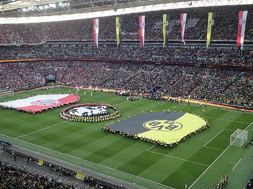 90.000 Zuschauer finden im weiten Rund Platz. Neben Länderspielen finden hier zudem das englische Pokalfinale und vereinzelt auch Konzerte statt. Auch American Football wird ein Mal im Jahr hier gespielt. (Foto: Sören Peters)