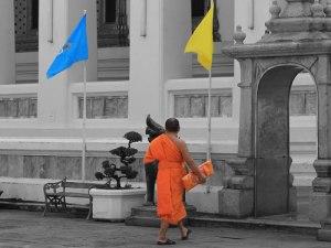 Mönch im Wat Po. (Foto: Sören Peters)