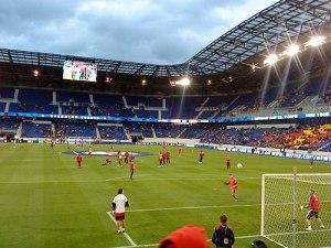 Innenansicht der RB-Arena. (Foto: Sören Peters)