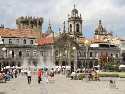 Praça da Republica in Braga. (Foto: Sören Peters)
