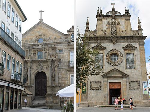 Gleich um die Ecke befinden sich die Igreja dos Terceiros (r.) und die Igreja da Misericordia. (Fotos: Sören Peters)