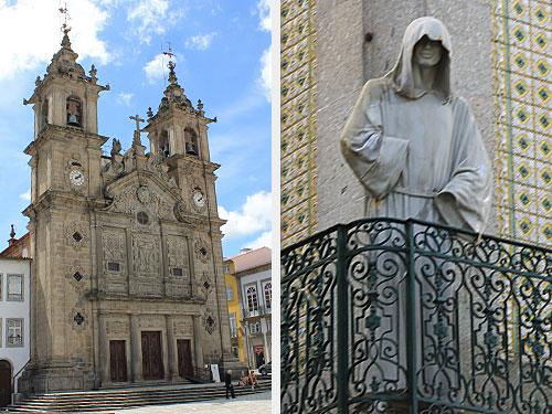 ...ist auch schon die nächste Kirche zu sehen. Diesmal die Igreja de Santa Cruz. Rechts: Irgendwie fühlt man sich doch beobachtet. (Foto: Sören Peters)