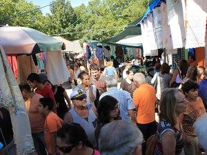 Gedränge auf dem Freitagsmarkt. (Foto: Sören Peters)