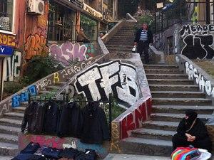 Treppe im Kreativ-Viertel rund um den Galataturm. (Foto: Sören Peters)
