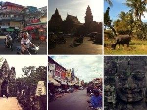 Schnappschüsse aus Kambodscha aus meinem Instagram-Account. (Fotos: Sören Peters)