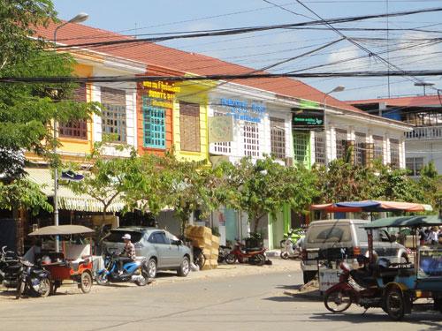 Auch das ist Siem Reap: Bunte Kolonialhäuser etwas nördlich der Old-Market-Area. (Foto: Sören Peters)