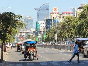 Am Preah Sihanouk Boulevard. (Foto: Sören Peters)