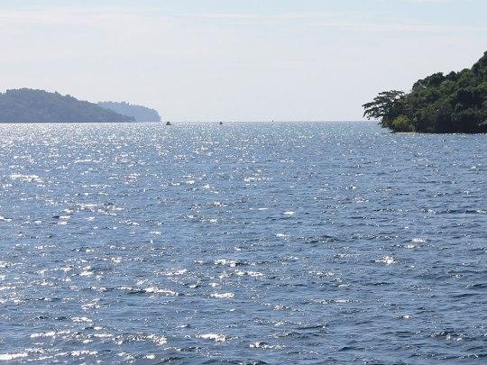 Panoramablick auf die Inseln vor der Küste von Sihanoukville. (Foto: Sören Peters)