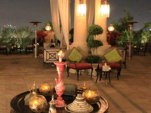 Shisha-Bar auf einer Terasse. (Foto: Sören Peters)