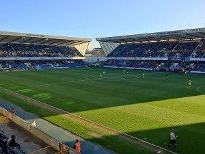 Das Stadion fasst etwas mehr als 20.000 Zuschauer, war aber trotzdem nicht voll. (Foto: Sören Peters)