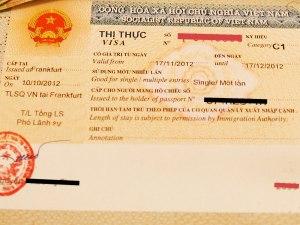 Das Touristen-Visum für Vietnam wird in der Regel für einen Monat ausgestellt. (Foto: Sören Peters)