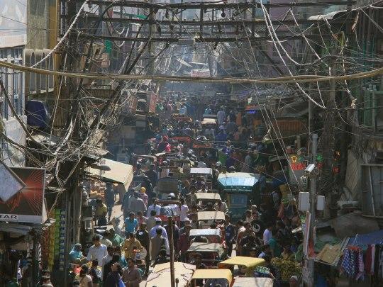 Alltägliches Chaos in Delhi. (Foto: Sören Peters)