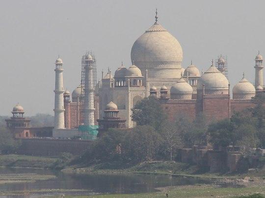 Das Taj Mahal, gesehen vom Fort. (Foto: Sören Peters)