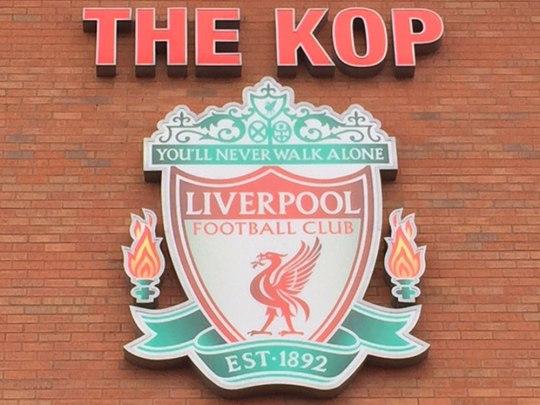 The Kop, die legendäre Tribüne in Anfield. (Foto: Sören Peters)