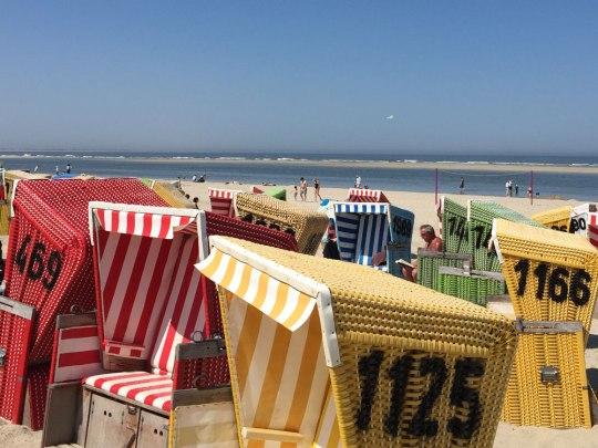 Strandkörbe auf Langeoog. (Foto: Sören Peters)