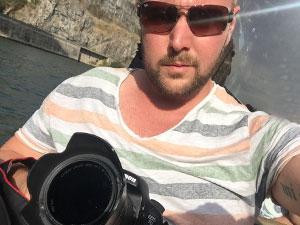 Selfie auf dem Douro-Boot.